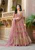 Dusty Rose Embroidered  Anarkali Designer Indian Dresses Online
