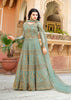 Sage Green Embroidered Anarkali Wedding Suits For Women
