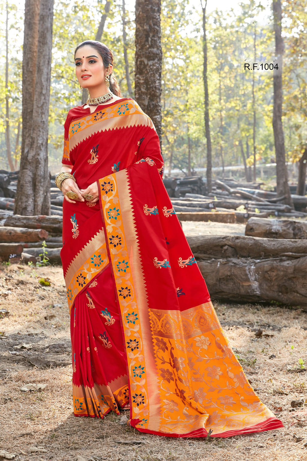 Red Art Silk Pure Silk Sarees Online Shopping