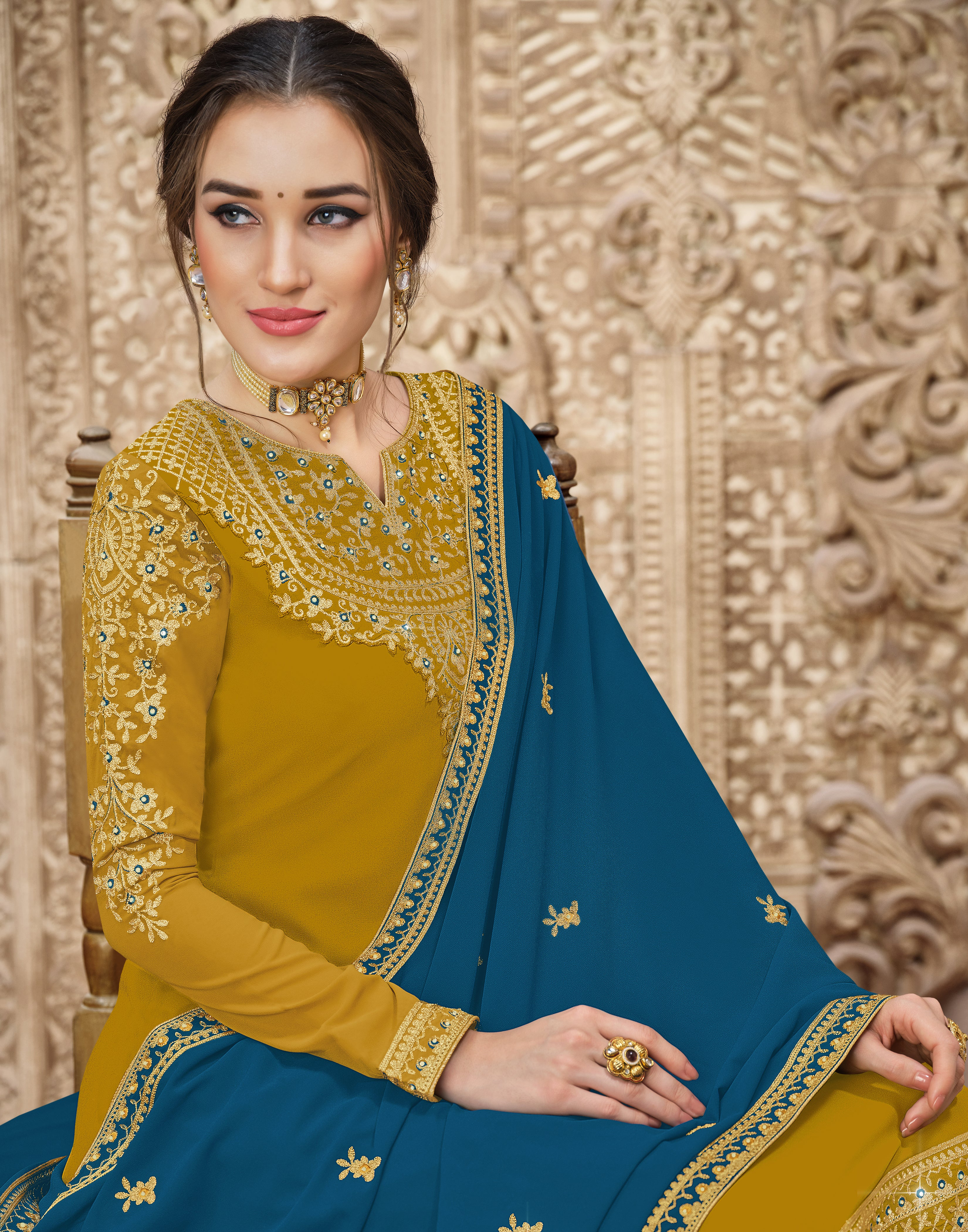 Rich Grey Chiffon Buy Sarees Online In India