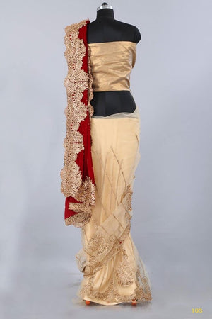 Velvet Net Indian Wedding Sarees Online Shopping ,Indian Dresses - 7