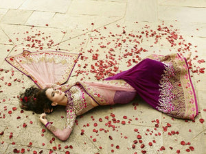 Pink Designer Georgette Bollywood Sarees Online Fashion ,Indian Dresses - 3