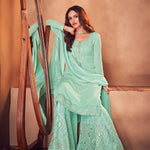 Maroon Velvet Embroidered Beautiful  Bridal Indian Wedding Dress With Price