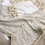 White Georgette Sequins Fancy Sarees With Price In India