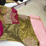 Pink Designer Georgette Bollywood Sarees Online Fashion ,Indian Dresses - 4
