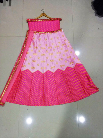 Two Tone Pink Zigzag Bollywood New Fashion Chaniya Choli ,Indian Dresses - 2