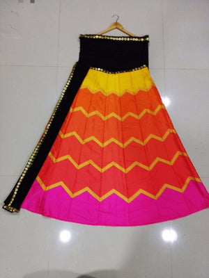 Multi Color Raw Silk Bollywood Indian Ghagra Choli ,Indian Dresses - 2