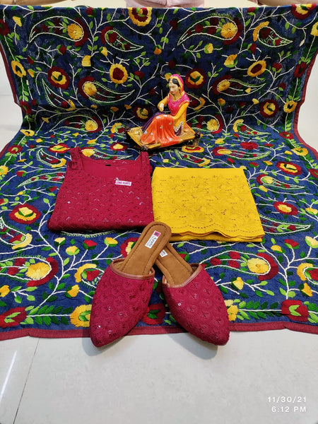 Turquoise Embroidered Georgette Abaya Style Salwar Kameez Online Shopping India