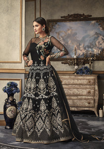 Black Net Gown Style  Anarkali Online Shopping For Womens Salwar Suits