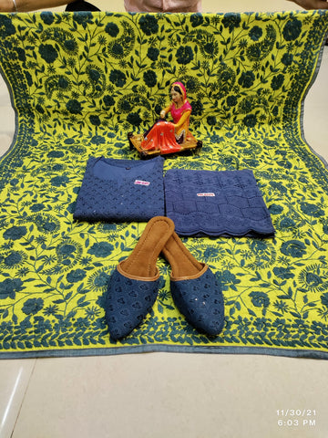 Black Embroidered Georgette Abaya Style Salwar Kameez Shopping Online