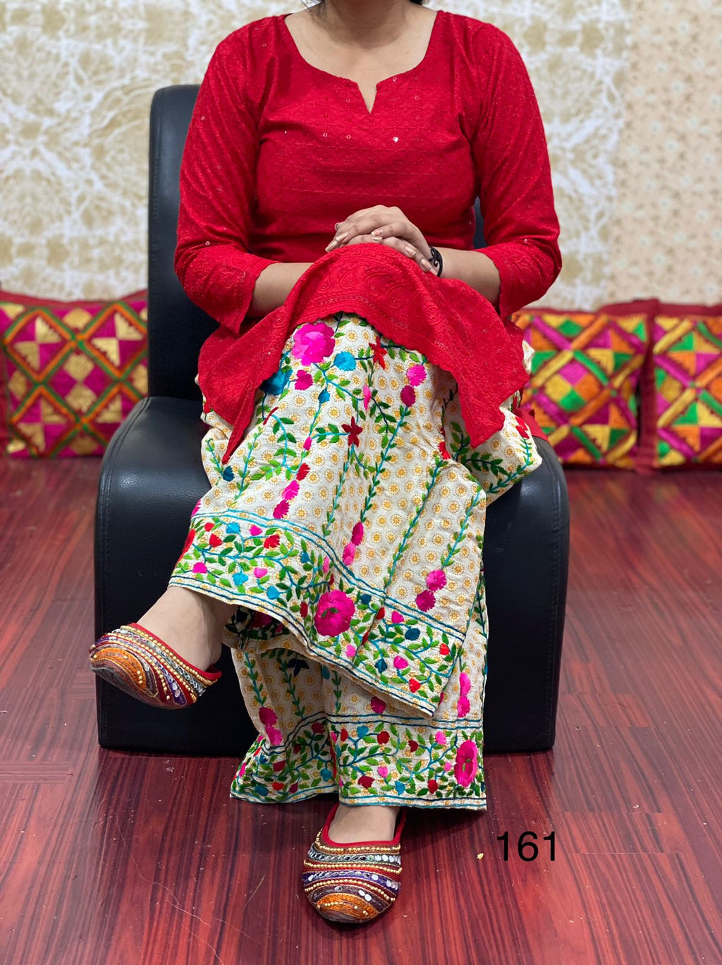 Hot Pink Taffeta Silk Anarkali Ladies Salwar Suits Online In India
