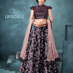Black Digital Printed Velvet Beautiful Lehenga Choli Online