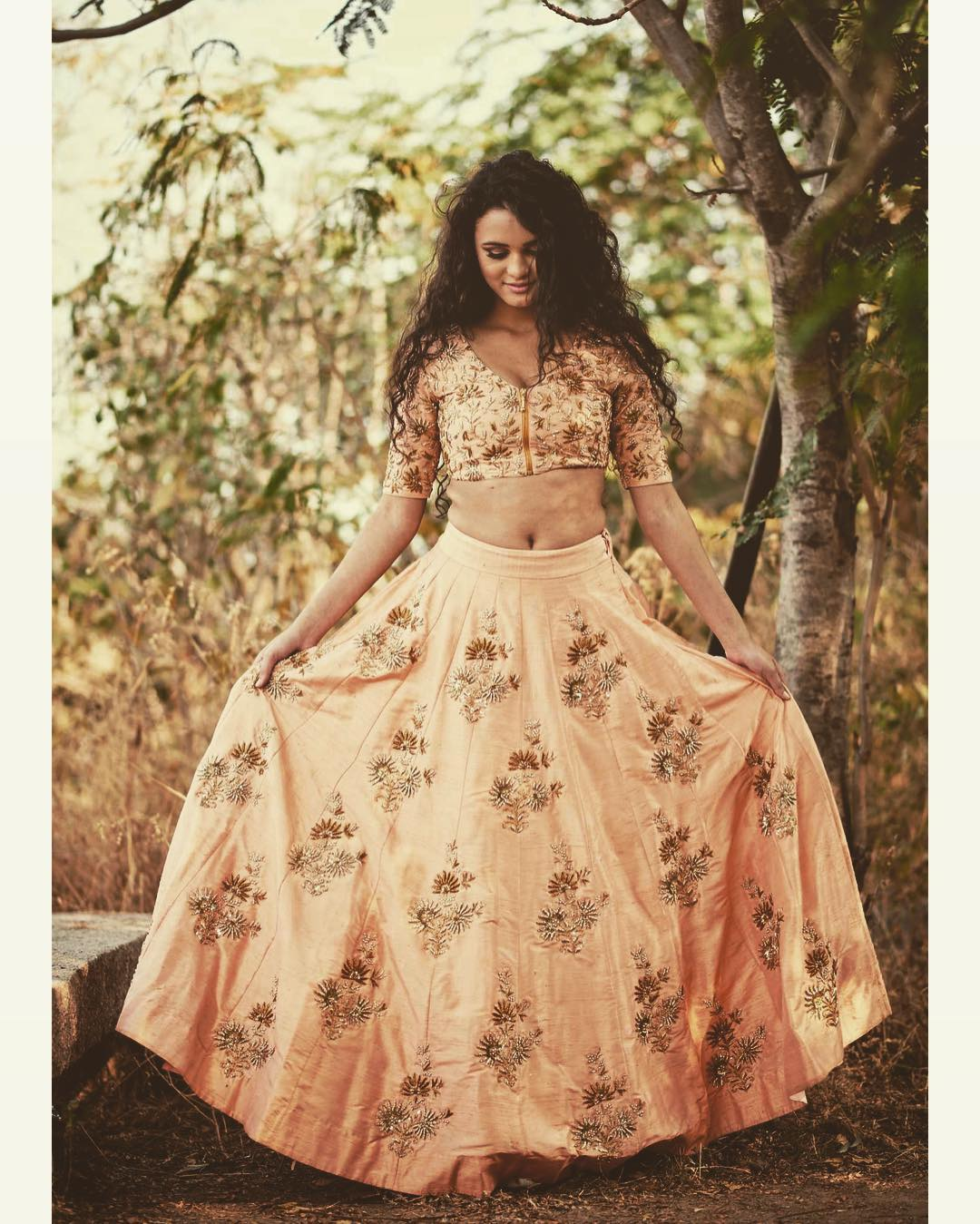 Light Peach Lehengas Online Shopping India
