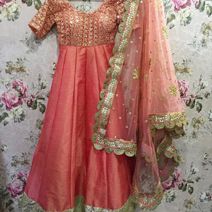 Peach Heavy Anarkali Bollywood Suits Online