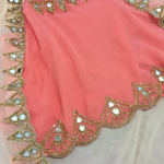 Peach Dhoti Style Bollywood Dress. ,Indian Dresses - 2