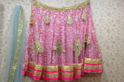 Floral Pink Bollywood Lehenga Choli online ,Indian Dresses - 1