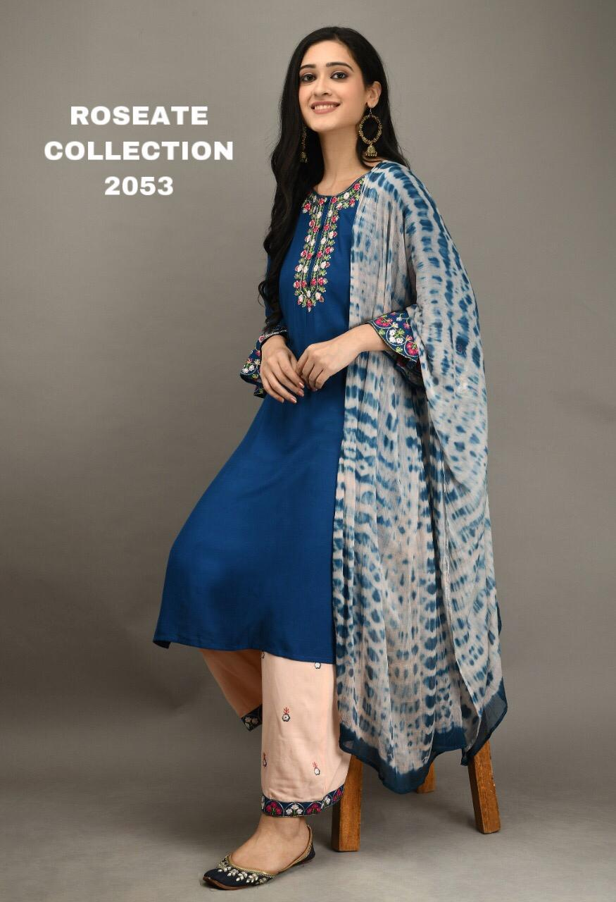 Teal Cotton Bell Sleeve Kurti Palazzo Dress Design Salwar Suit