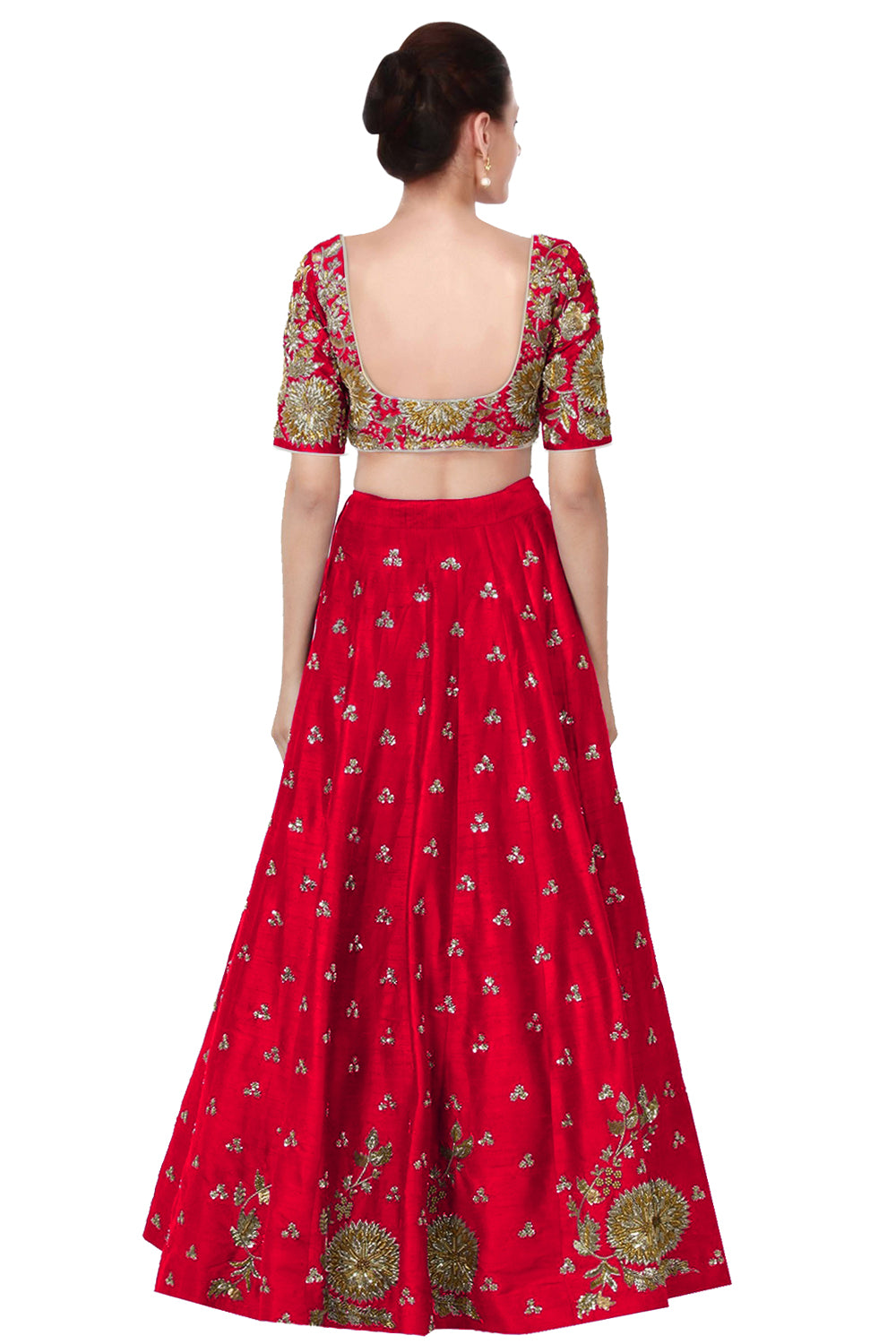 Red Embroidery Art Silk Choli Designs Online Shopping