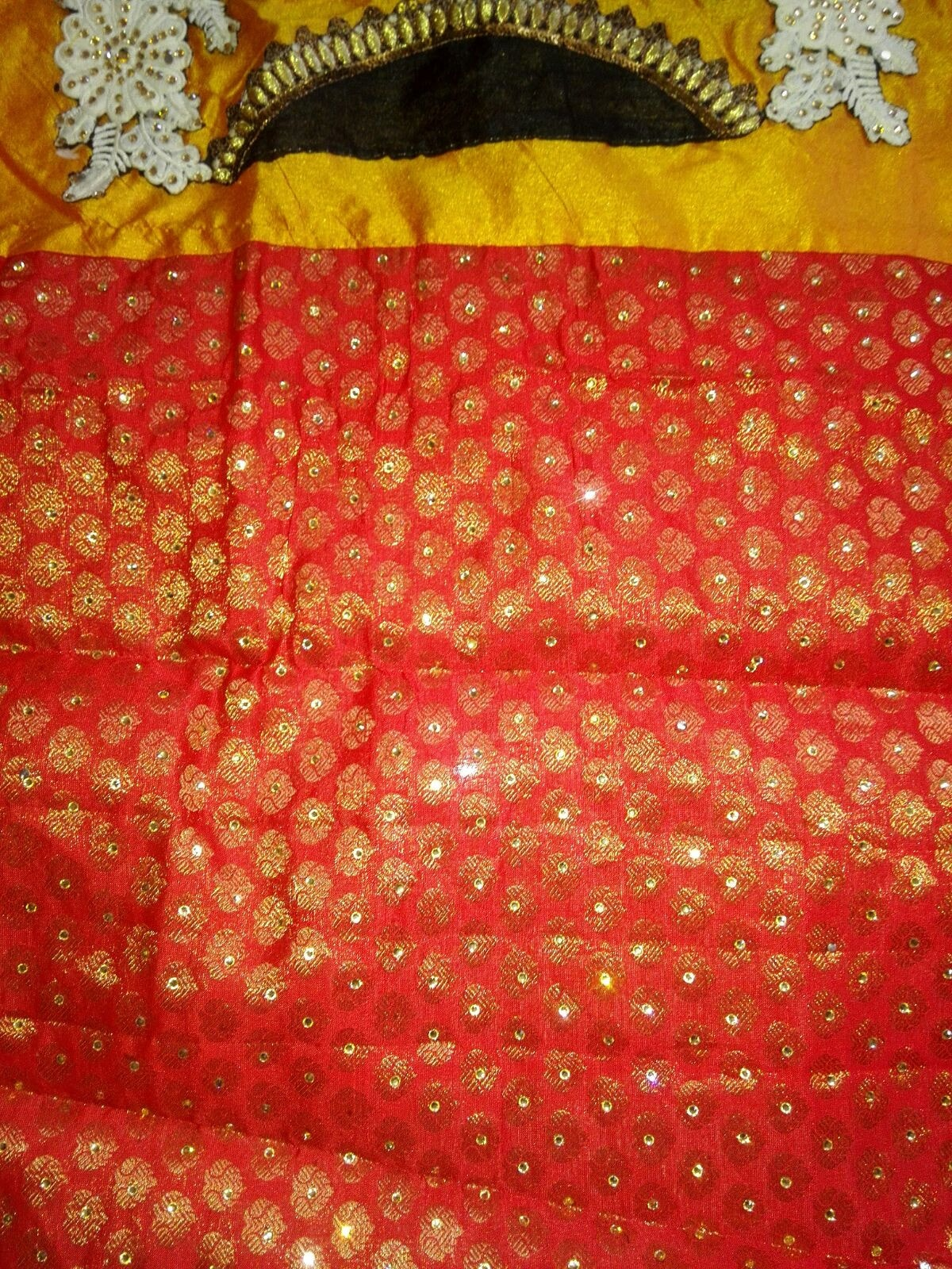 Elegant Red Georgette and Net Bollywood Sarees Online ,Indian Dresses - 7