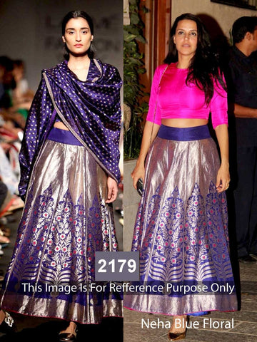 Neha Blue Bollywood Lehenga Choli Online ,Indian Dresses