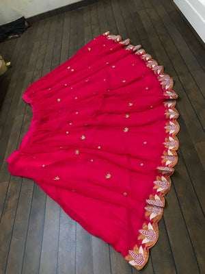 Hot Pink Georgette Latest Designs Online Lehenga Choli Shopping