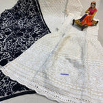 Midnight Blue Silk Lehenga With Long Choli With Price