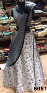 Light Gray Latest Indian Lehenga Designs