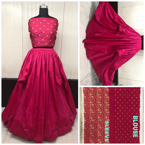 Maroon Taffeta Silk New Party Wear Lehenga Choli Online Shopping