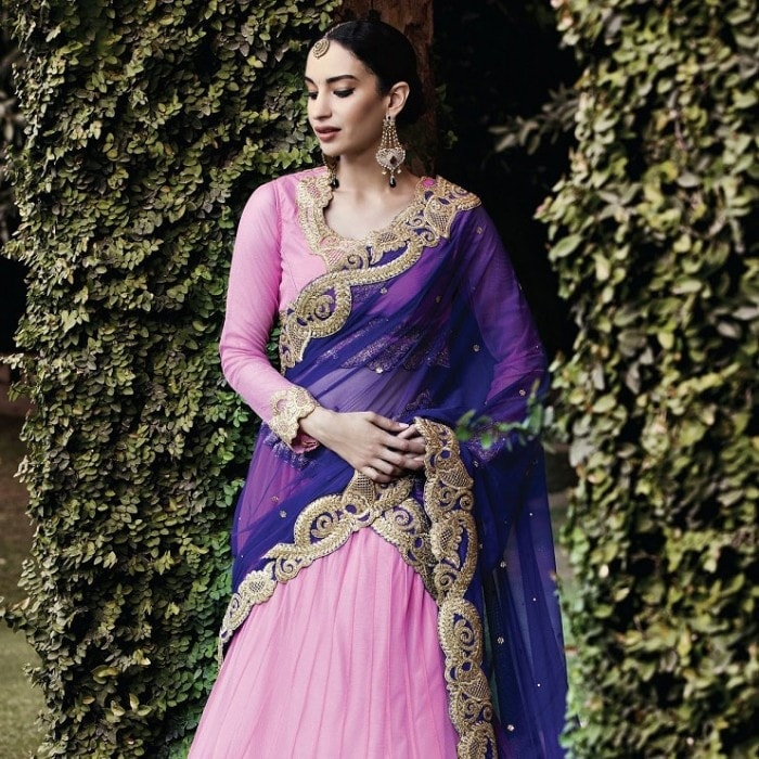 Rose Pink Net Buy Designer Lehenga Online ,Indian Dresses - 2