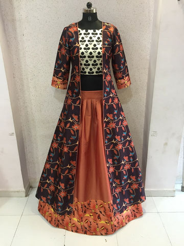 Tamanna Pink And Orange Hues Bollywood Fashion Lehenga Choli