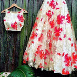 White Net Bollywood Replica Lehenga Choli Online