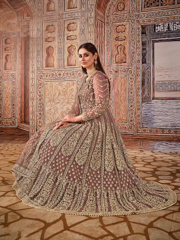 Light Pink Net Beautiful Lehenga Choli Designs For Wedding India Online