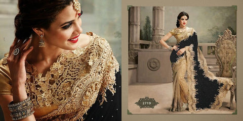 Velvet Net Indian Wedding Sarees Online Shopping ,Indian Dresses - 3