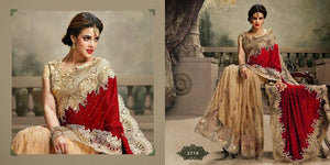 Velvet Net Indian Wedding Sarees Online Shopping ,Indian Dresses - 1
