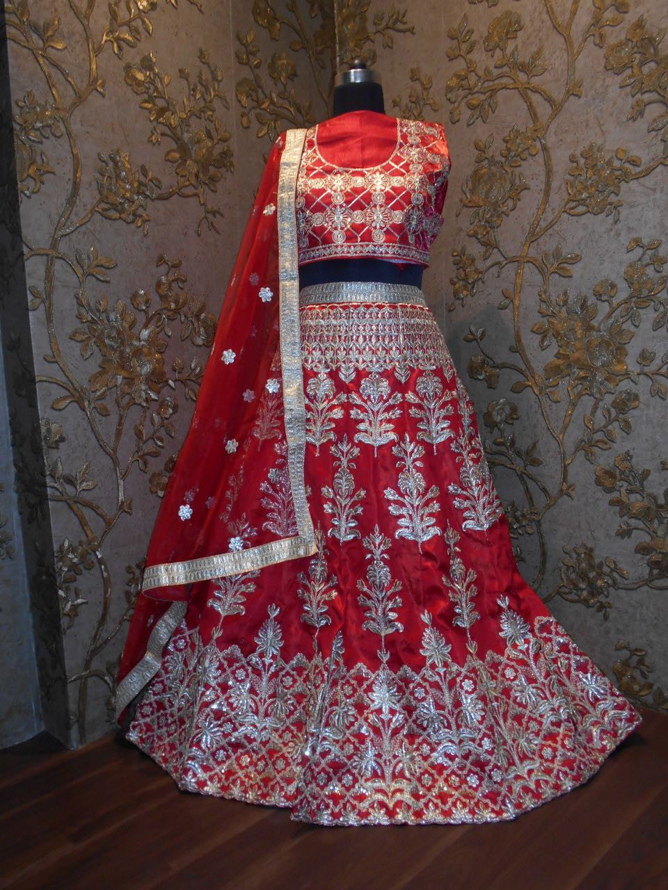Red Heavy Embroidered Bollywood Lehengas Collection ,Indian Dresses - 3