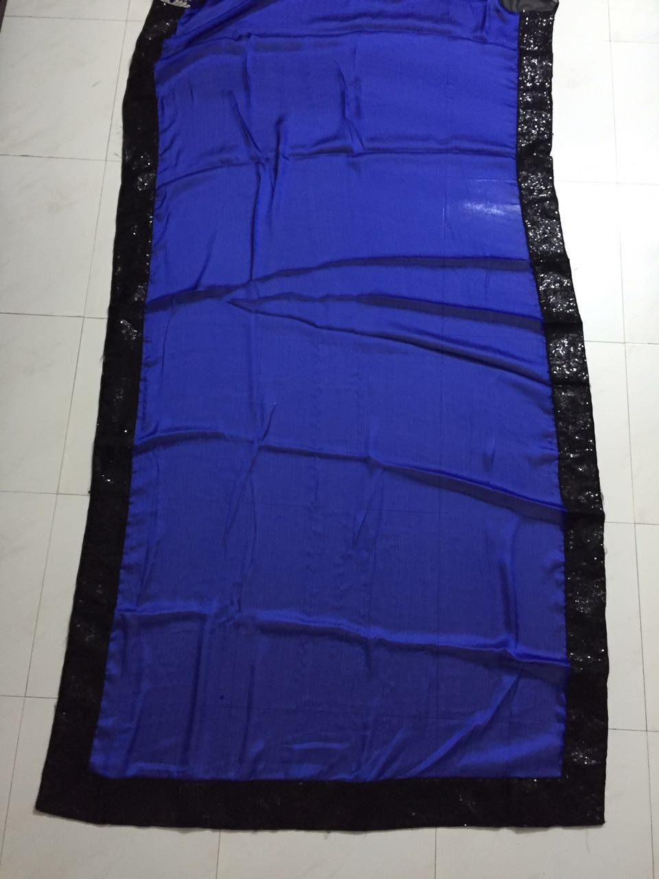 Blue And Black Half And Half Buy Bollywood Saree ,Indian Dresses - 2