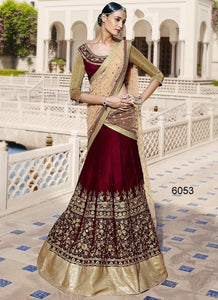 Red Velvet Bollywood Lehenga Choli Online India