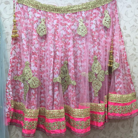 Floral Pink Bollywood Lehenga Choli online ,Indian Dresses - 2