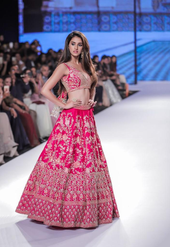 Lovely Pink Taffeta Silk Embroidered Indian Designer Lehenga Choli Design