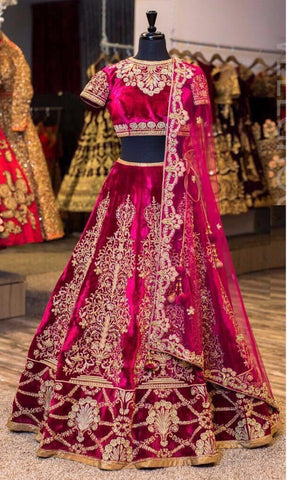 Magenta Bollywood Lehenga Choli Online Shopping