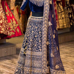 Embroidered Velvet Bollywood Wedding Lehenga With Price