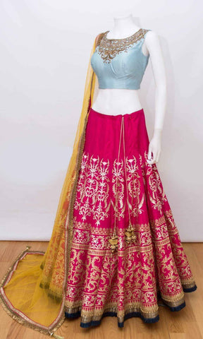 Cherry Red Thai Silk New Chaniya Choli Design Indian Dresses Indian