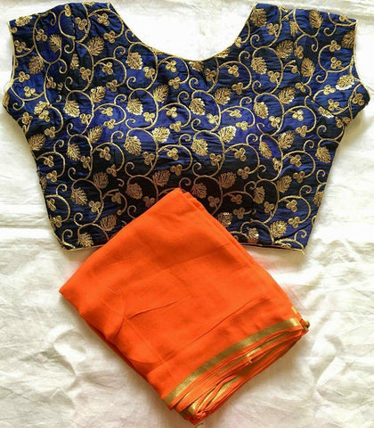 Set Of 3 Beautiful Georgette Saree Bollywood Style Online