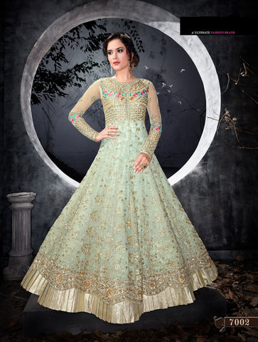 Pastel Green Wedding Anarkali Buy Salwar Kameez Online Free Shipping