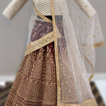 Maroon Banglori Silk Indian Designer Ghagra Choli