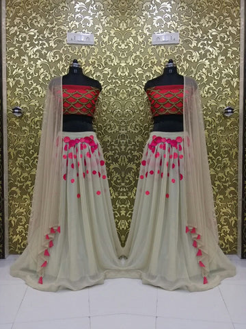 Sunny Leone Georgette Lehenga Choli Design ,Indian Dresses - 2