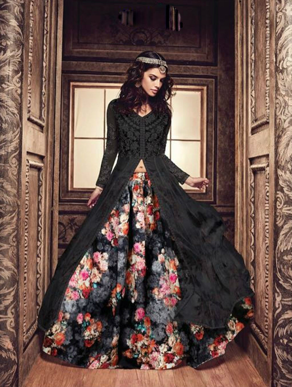 Black Long Choli Lehenga Salwar Buy Indian Dresses Online India