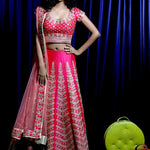 Magenta Silk New Design Embroidered Choli Lehenga Online