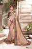 Beautiful Rosy Brown Chiffon Online Shopping Low Price Sarees