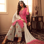 Peach Pink Georgette Pakistani Style Salwar Suits Online